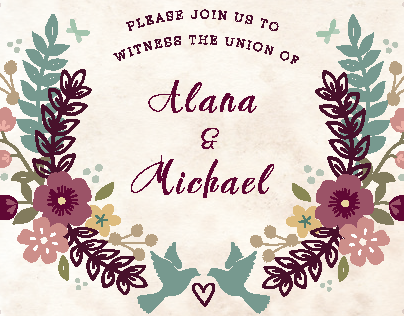 Alana & Michaels Wedding Invite