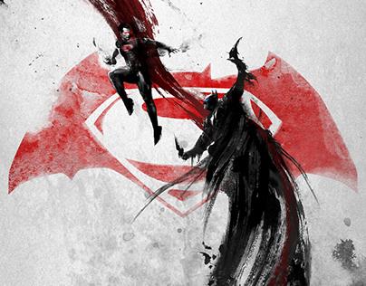 《蝙蝠侠大战超人》中国定制版海报