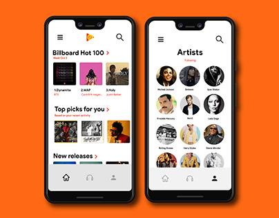 Google Play Music UI/UX Re-design