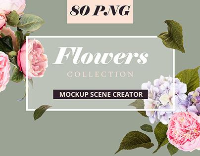 Flowers Mockup Scene Creator