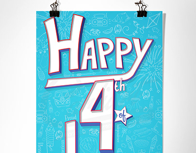 July 4th Hand Lettering
