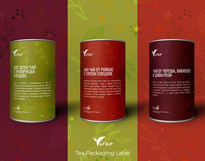 Vireo: Tea Box Labels