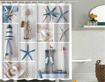 Shell shower curtain