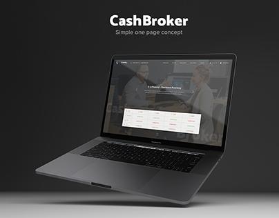 CashBroker - website concept