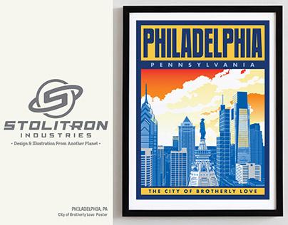 Philadelphia, PA-City of Brotherly Love Poster