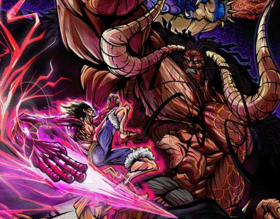 Luffy vs Kaido Fanart