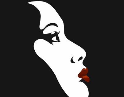 Black&white&lipstick