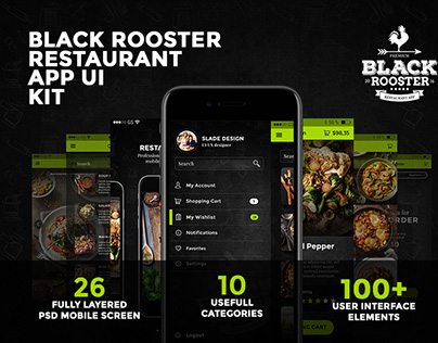 Black Rooster Restaurant iOS Mobile App Template