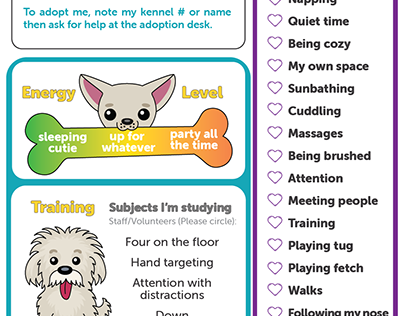 Pet Report Cards for Animal Shelter