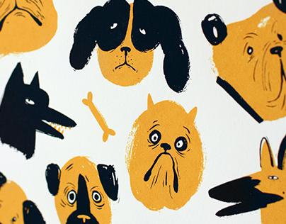 Doggies Screen Print
