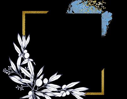 handdrawn olive plant frames (free download)