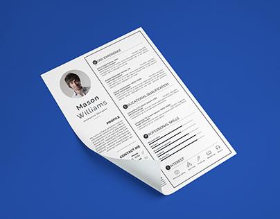 Clean Resume/ CV
