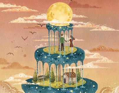 Moonlit Fountain