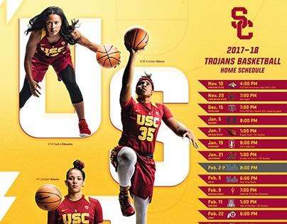 Poster Design - 2017-18 USC Women's Basketball