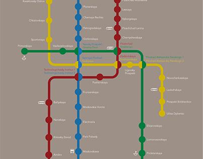 St. Petersburg Russia metro map