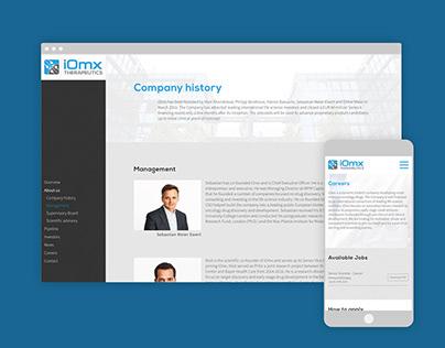 iOmx -- Responsive website design development