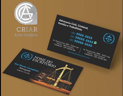 CV Advogado - Arte Editável