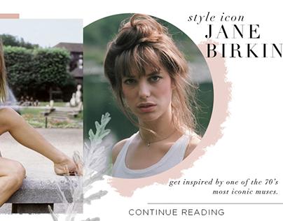 Jane Birkin Post Banner