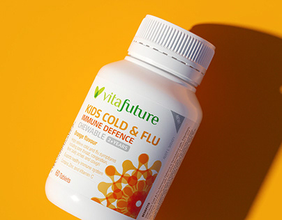 VitaFuture Cold and Flu Design and 3D Rendering
