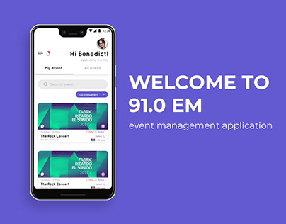 Event Management App UI