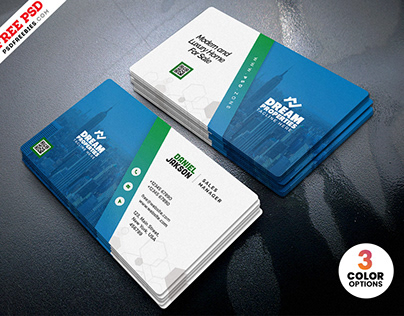Professional Business Card PSD Template