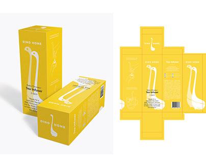 DINO HIME Tea Infuser - Packaging design