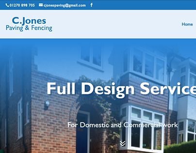 Cjones Paving and fencing website 2017