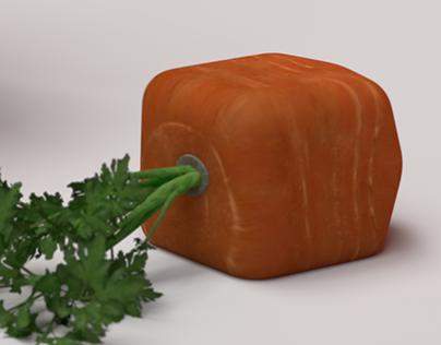 3Dillustration#02 : Cube Rabbit
