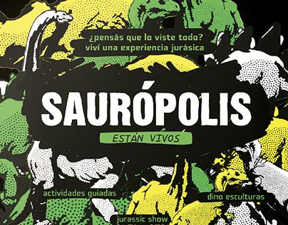 Sauropolis - Branding + Señalética + Ilustraciones