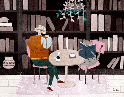 Animation and illustration for a book reviewing blog