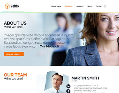 Gabby - a unique WordPress theme