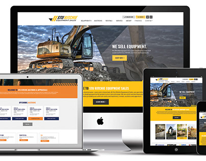 Auction and Equipment Sales Branding and Web Design