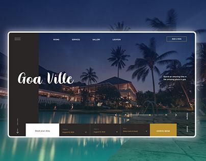 Hotel Booking Web App UI UX Design Mockup