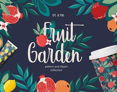 Fruit garden pattern collection