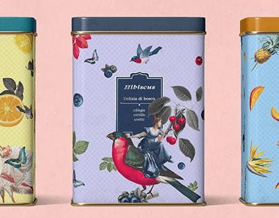Hibiscus - tea label