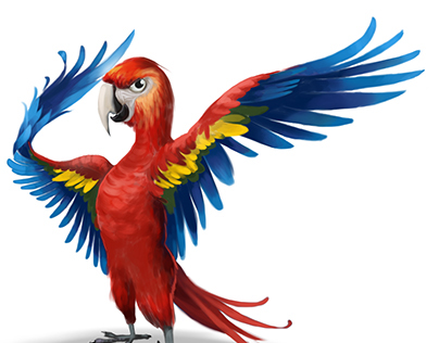 Parrot Character Designs for IOS Game
