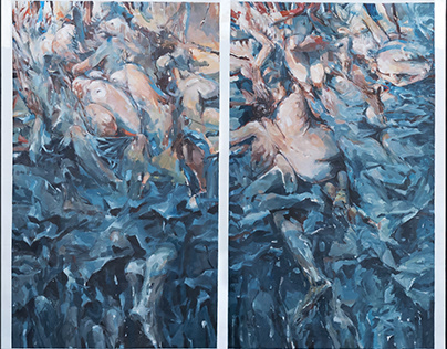 Segmented Reality diptych
