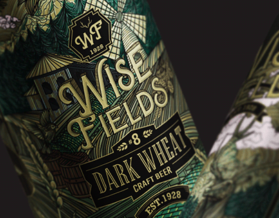 Wise Fields - Craft Beer Aluminum Can Label Design