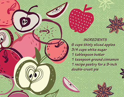 Illustrated recipes for theydrawandcook.com
