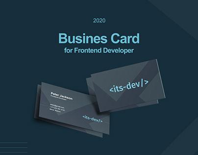 Busines Card for Frontend Developer