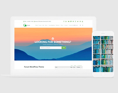 Forum WordPress Theme - bbPress & BuddyPress Sites