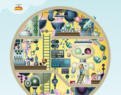 Metaaljournaal - editorial illustrations