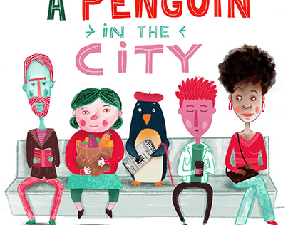 A penguin in the city