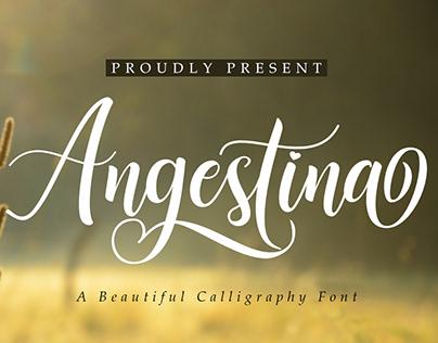 Angestina | A Calligraphy Font