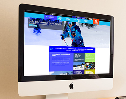 Escola d'esquí i snowboard Grandvalira website