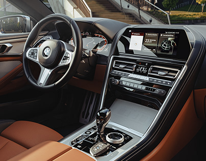 BMW 8 series interior CGI