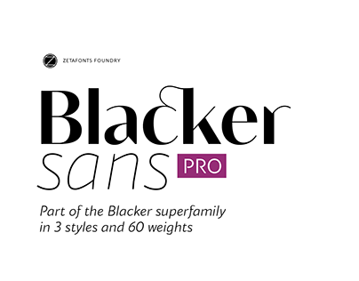 Blacker Sans Pro Typeface - Humanist, Sans & Variable