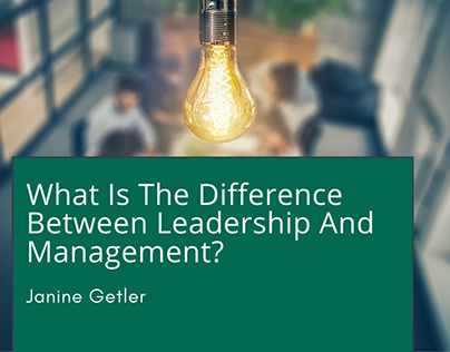 What Is The Difference Between Leadership & Management?