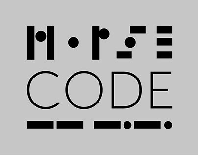 Morse code - typeface