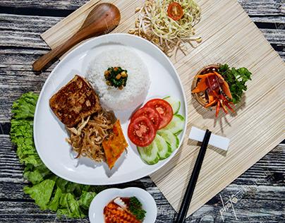 Chụp ảnh món ăn nhà hàng chay